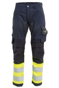 Bukse med stretch, Farge: 94 gul/marine