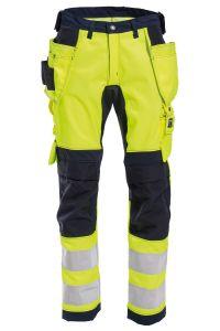 Bukse håndverk med stretch, Farge: 94 gul/marine