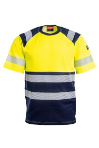 T-skjorte, Farge: 94 gul/marine